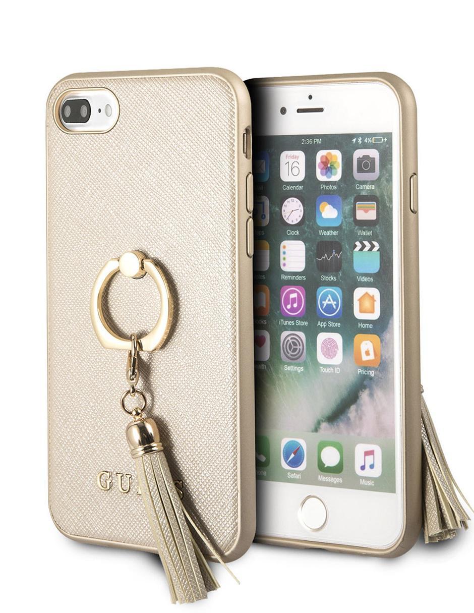 710f35fc35b Funda para iPhone 8 Plus y 7 Plus Ring Stand Mobo dorada Precio ...