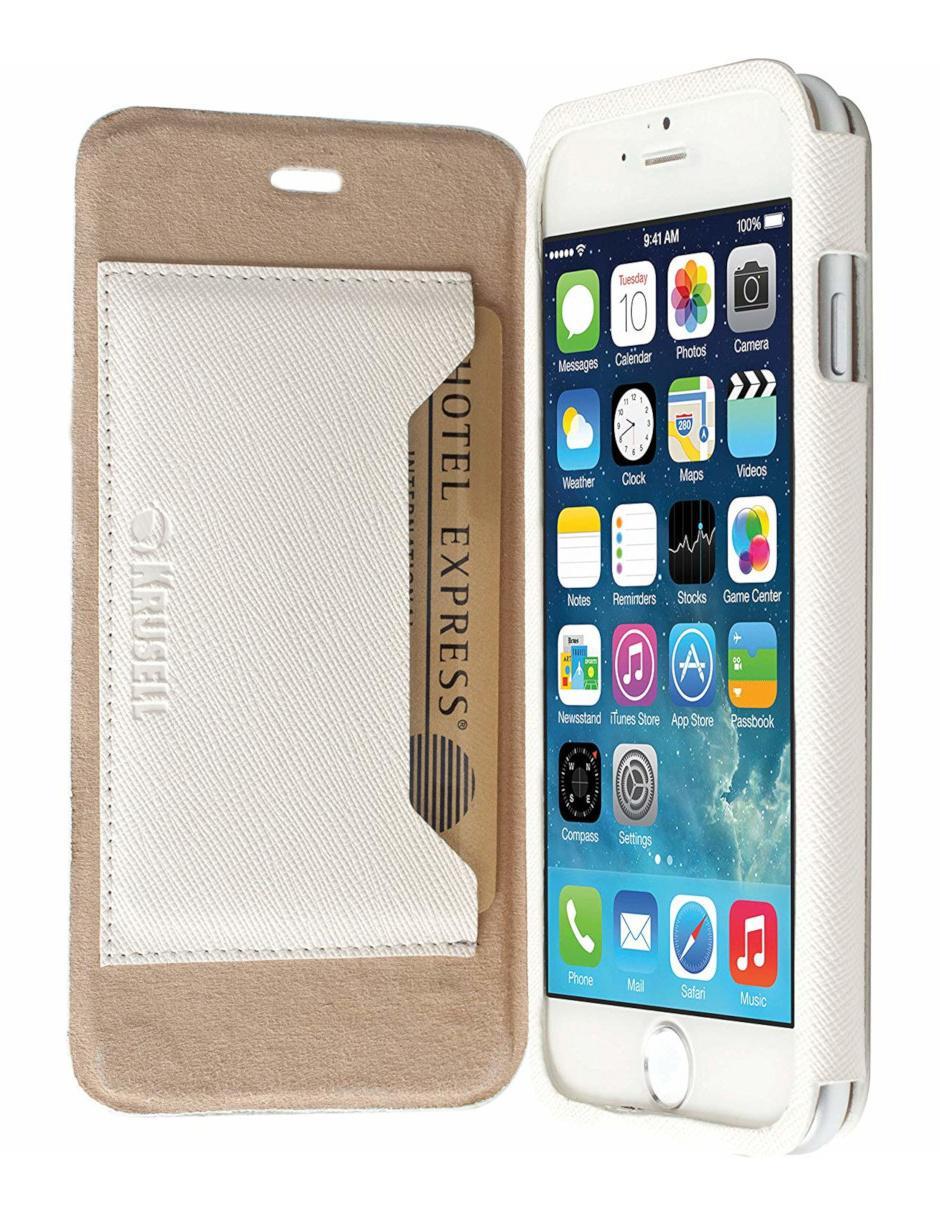 b7cd9818044 Funda para iPhone 6 y 6S Krusell FlipCase Malmo Stand blanca