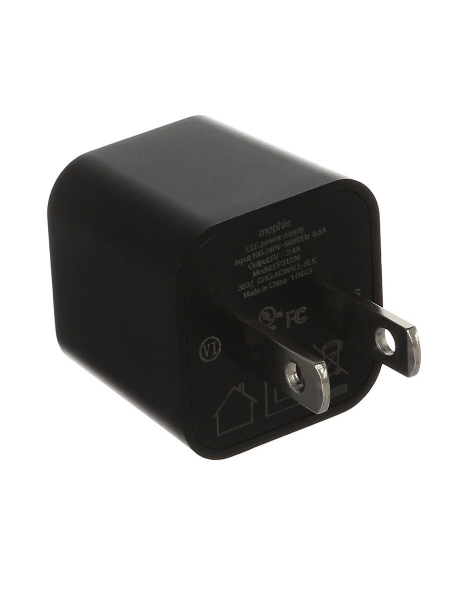 fc83be917df COMPARTE ESTE ARTÍCULO POR EMAIL. Cargador de Pared USB Mophie negro